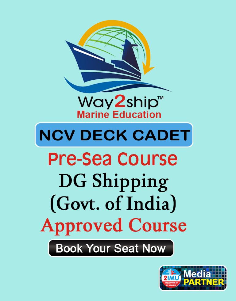 NCV Deck Cadet Admission 2019 | Way2ship® Marine Education